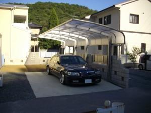 デザインブロック塀とカーポート 相生 K様邸
