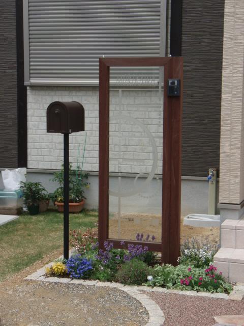 世界にひとつだけのオリジナルガラス門柱
